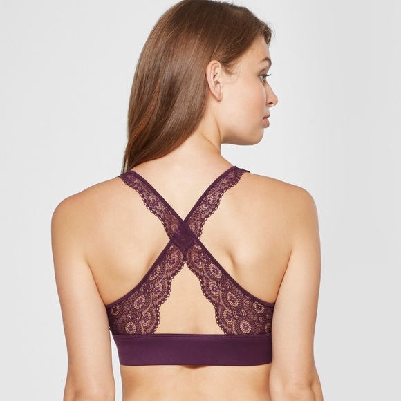 0d26e2aedd Gilligan   O Malley Other - Wrap front lace bralette